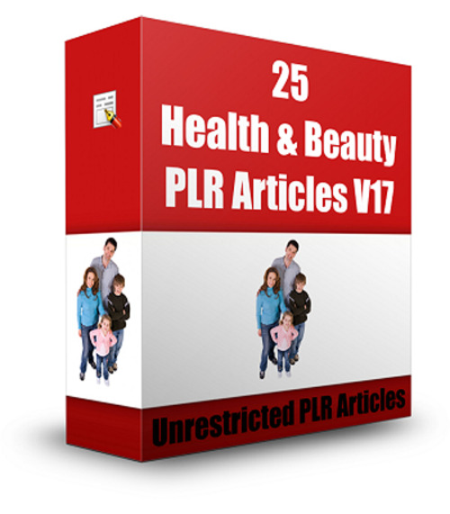 Product picture 25 Health & Beauty PLR Articles V17