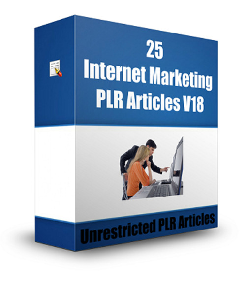 Product picture 25 Internet Marketing PLR Articles