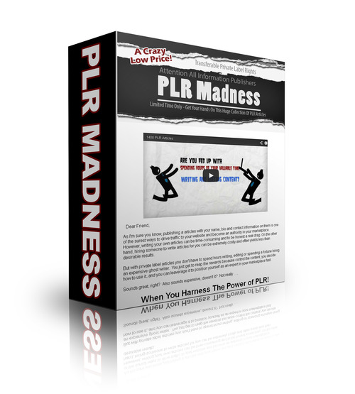 Product picture PLR Madness 1400 Articles